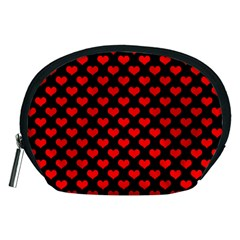 Love Pattern Hearts Background Accessory Pouches (medium)