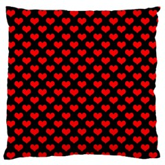 Love Pattern Hearts Background Large Flano Cushion Case (two Sides)