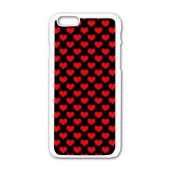 Love Pattern Hearts Background Apple Iphone 6/6s White Enamel Case