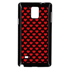 Love Pattern Hearts Background Samsung Galaxy Note 4 Case (black)
