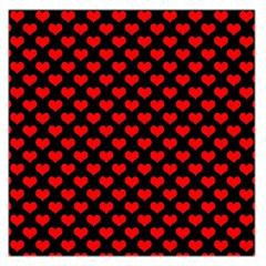 Love Pattern Hearts Background Large Satin Scarf (square)