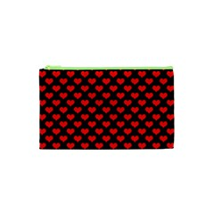 Love Pattern Hearts Background Cosmetic Bag (xs)