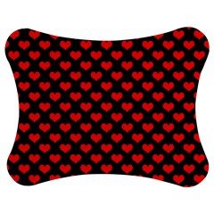 Love Pattern Hearts Background Jigsaw Puzzle Photo Stand (bow)