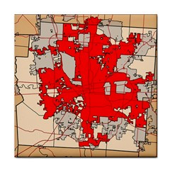 Map Of Franklin County Ohio Highlighting Columbus Tile Coasters