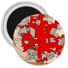 Map Of Franklin County Ohio Highlighting Columbus 3  Magnets