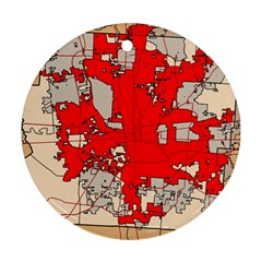 Map Of Franklin County Ohio Highlighting Columbus Ornament (round)
