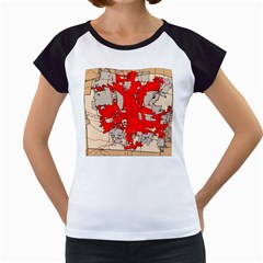 Map Of Franklin County Ohio Highlighting Columbus Women s Cap Sleeve T