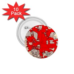 Map Of Franklin County Ohio Highlighting Columbus 1.75  Buttons (10 pack)
