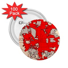 Map Of Franklin County Ohio Highlighting Columbus 2 25  Buttons (100 Pack)