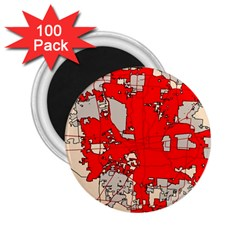 Map Of Franklin County Ohio Highlighting Columbus 2 25  Magnets (100 Pack)
