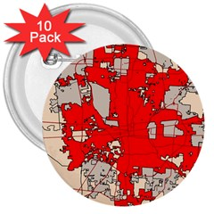 Map Of Franklin County Ohio Highlighting Columbus 3  Buttons (10 Pack)
