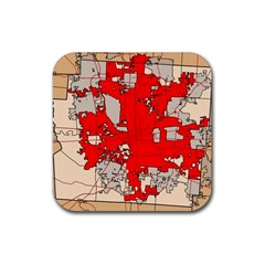 Map Of Franklin County Ohio Highlighting Columbus Rubber Coaster (square)