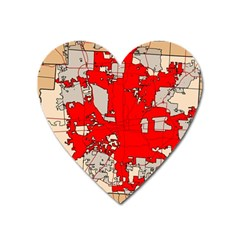 Map Of Franklin County Ohio Highlighting Columbus Heart Magnet