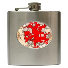 Map Of Franklin County Ohio Highlighting Columbus Hip Flask (6 Oz)