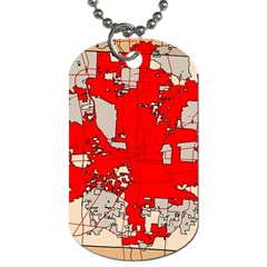 Map Of Franklin County Ohio Highlighting Columbus Dog Tag (two Sides)