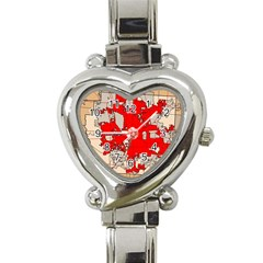 Map Of Franklin County Ohio Highlighting Columbus Heart Italian Charm Watch