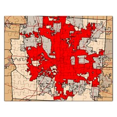Map Of Franklin County Ohio Highlighting Columbus Rectangular Jigsaw Puzzl