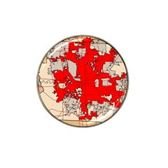 Map Of Franklin County Ohio Highlighting Columbus Hat Clip Ball Marker (4 Pack)