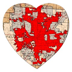 Map Of Franklin County Ohio Highlighting Columbus Jigsaw Puzzle (heart)