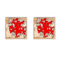 Map Of Franklin County Ohio Highlighting Columbus Cufflinks (square)