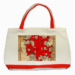 Map Of Franklin County Ohio Highlighting Columbus Classic Tote Bag (red)