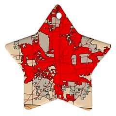 Map Of Franklin County Ohio Highlighting Columbus Star Ornament (two Sides)