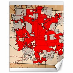Map Of Franklin County Ohio Highlighting Columbus Canvas 12  X 16
