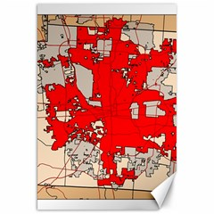 Map Of Franklin County Ohio Highlighting Columbus Canvas 20  X 30