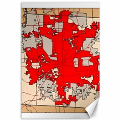 Map Of Franklin County Ohio Highlighting Columbus Canvas 24  X 36