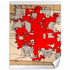 Map Of Franklin County Ohio Highlighting Columbus Canvas 36  X 48