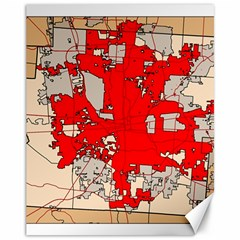 Map Of Franklin County Ohio Highlighting Columbus Canvas 11  X 14