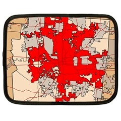 Map Of Franklin County Ohio Highlighting Columbus Netbook Case (large)