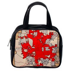 Map Of Franklin County Ohio Highlighting Columbus Classic Handbags (one Side)