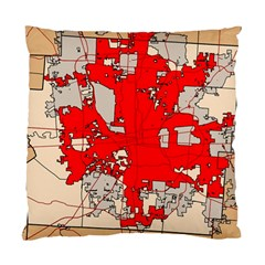 Map Of Franklin County Ohio Highlighting Columbus Standard Cushion Case (one Side)