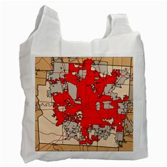 Map Of Franklin County Ohio Highlighting Columbus Recycle Bag (two Side)