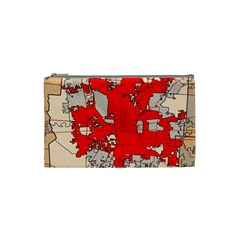 Map Of Franklin County Ohio Highlighting Columbus Cosmetic Bag (Small)