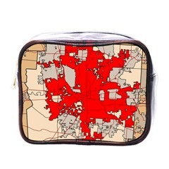 Map Of Franklin County Ohio Highlighting Columbus Mini Toiletries Bags