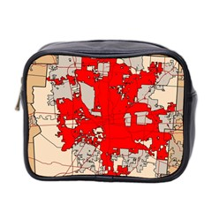 Map Of Franklin County Ohio Highlighting Columbus Mini Toiletries Bag 2-Side