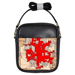 Map Of Franklin County Ohio Highlighting Columbus Girls Sling Bags