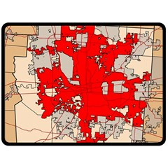 Map Of Franklin County Ohio Highlighting Columbus Fleece Blanket (large)