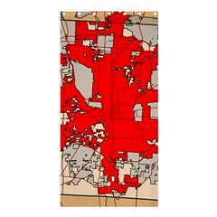 Map Of Franklin County Ohio Highlighting Columbus Shower Curtain 36  X 72  (stall)
