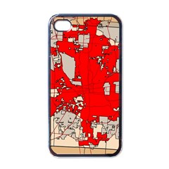 Map Of Franklin County Ohio Highlighting Columbus Apple Iphone 4 Case (black)