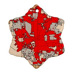 Map Of Franklin County Ohio Highlighting Columbus Ornament (snowflake)