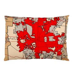 Map Of Franklin County Ohio Highlighting Columbus Pillow Case (two Sides)