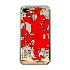 Map Of Franklin County Ohio Highlighting Columbus Apple Iphone 4 Case (clear)