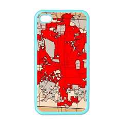 Map Of Franklin County Ohio Highlighting Columbus Apple Iphone 4 Case (color)