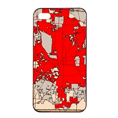 Map Of Franklin County Ohio Highlighting Columbus Apple Iphone 4/4s Seamless Case (black)