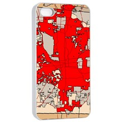 Map Of Franklin County Ohio Highlighting Columbus Apple Iphone 4/4s Seamless Case (white)