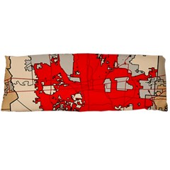 Map Of Franklin County Ohio Highlighting Columbus Body Pillow Case Dakimakura (two Sides)