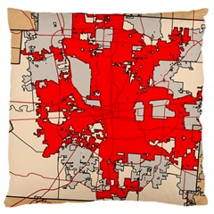 Map Of Franklin County Ohio Highlighting Columbus Large Cushion Case (Two Sides)